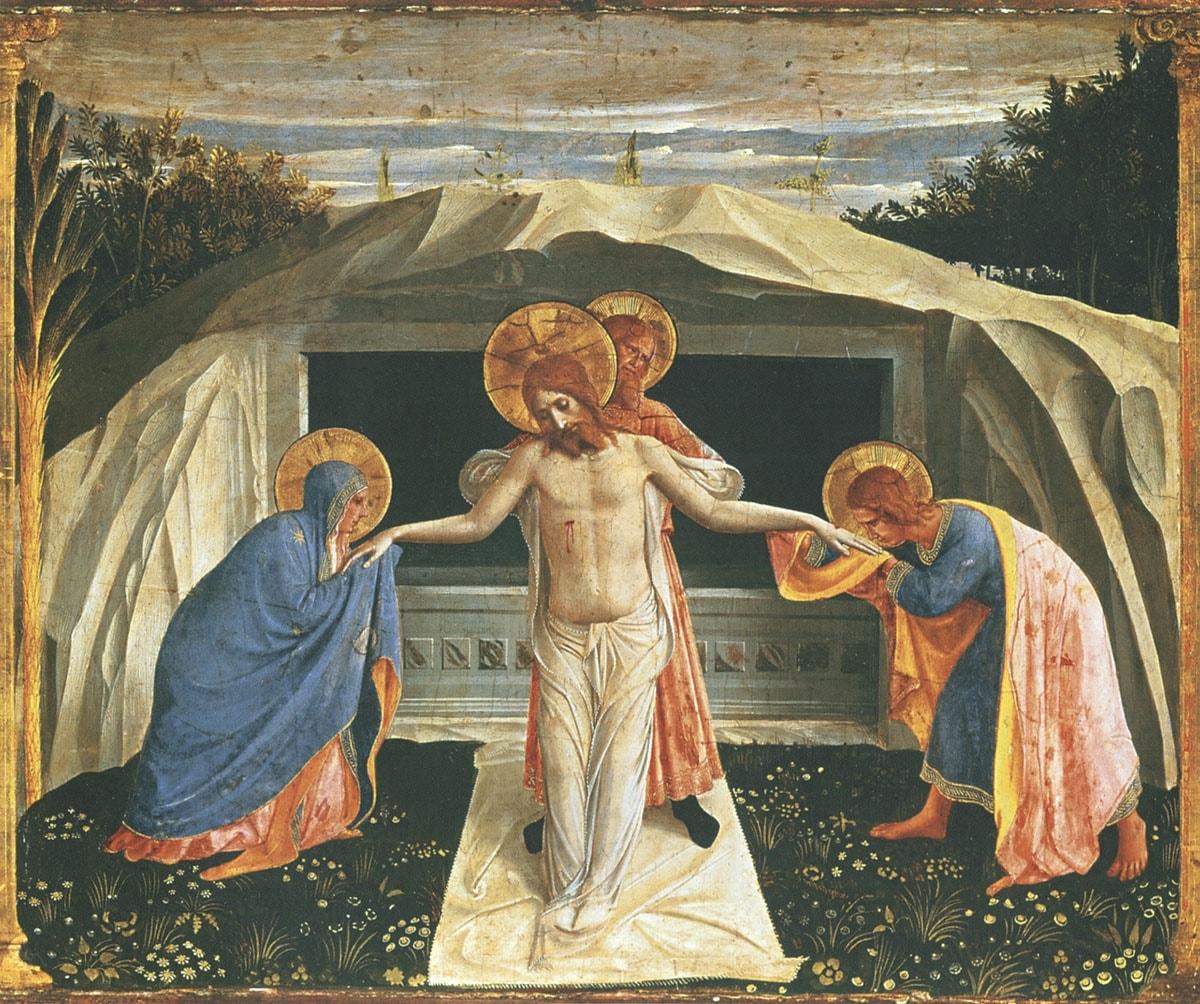 Положение во гроб. Фра Анджелико.