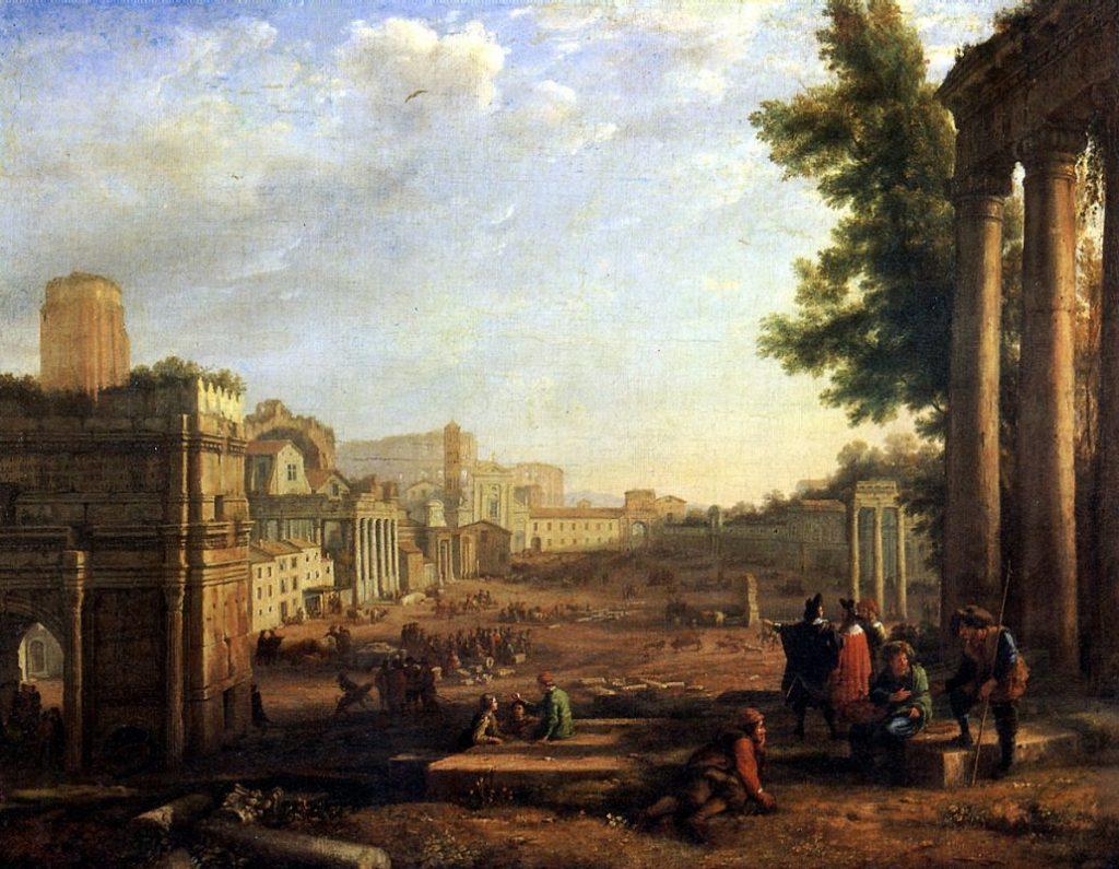 Кампо Ваччино в Риме. Клод Лоррен.