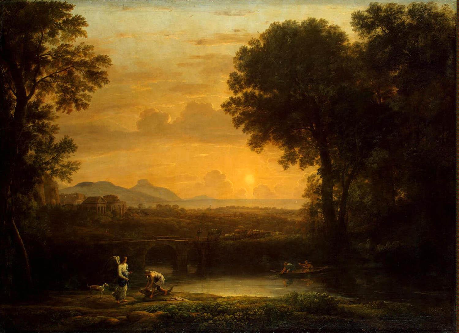 Пейзаж с Товием и ангелом. Клод Лоррен.