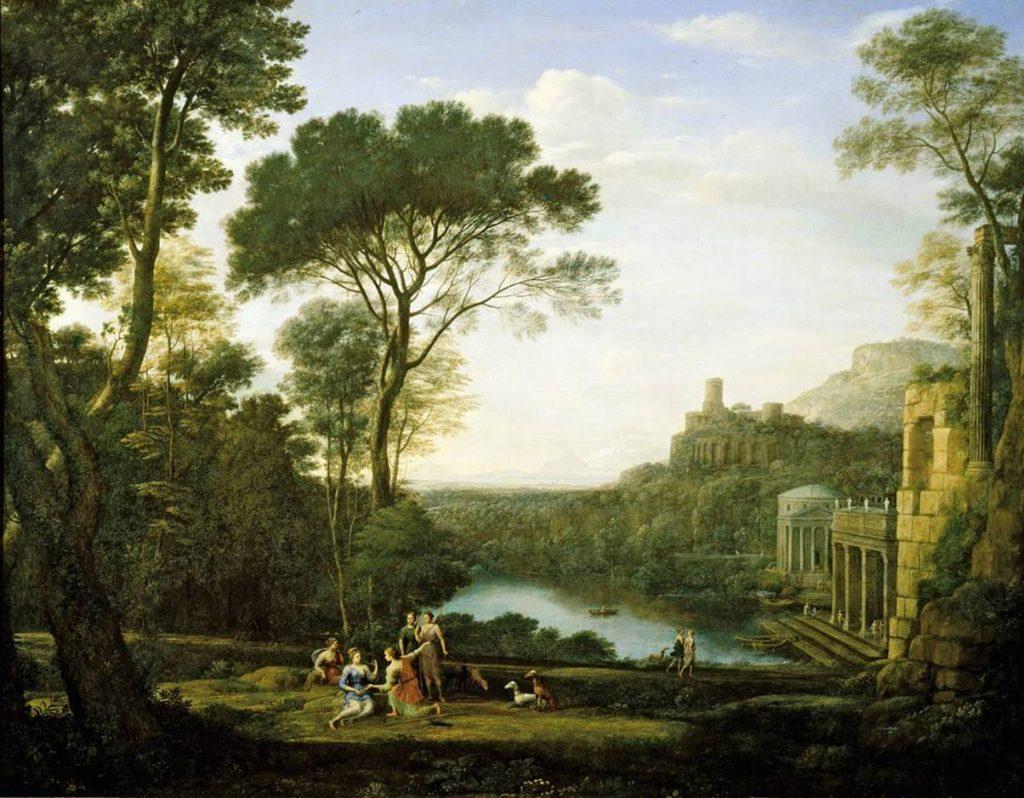 Пейзаж с нимфой Эгерией. Клод Лоррен.