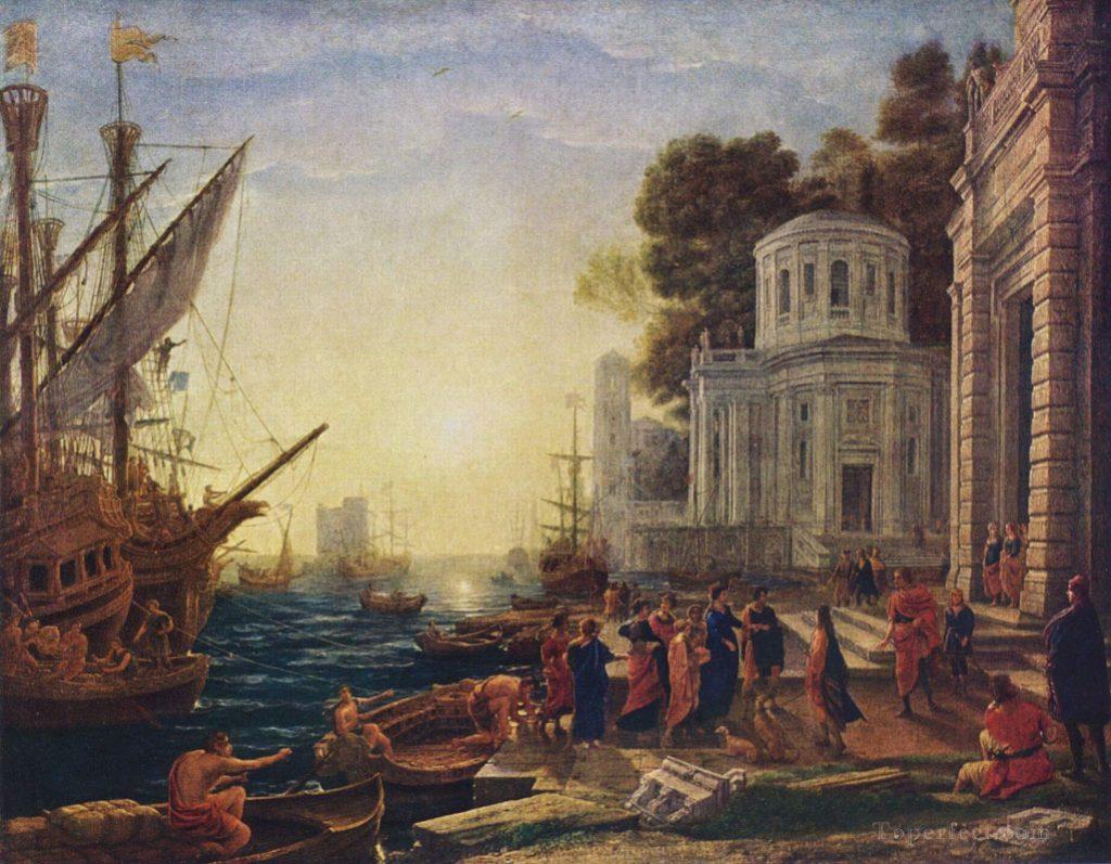 Прибытие Клеопатры в Тарсос. Клод Лоррен.