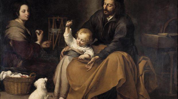 Святое семейство с птичкой. Мурильо.