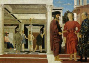 Бичевание Христа. Пьеро делла Франческа.